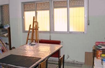 Sala de pintura de la Residencia universitaria Carmen Méndez de Granada